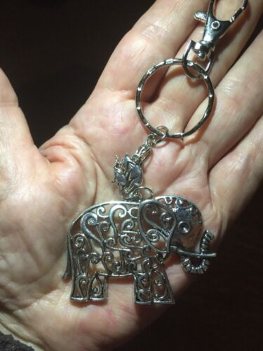 Elephant Key Ring// Bag Charm With Gift Bag Great Present For Elephant Lovers