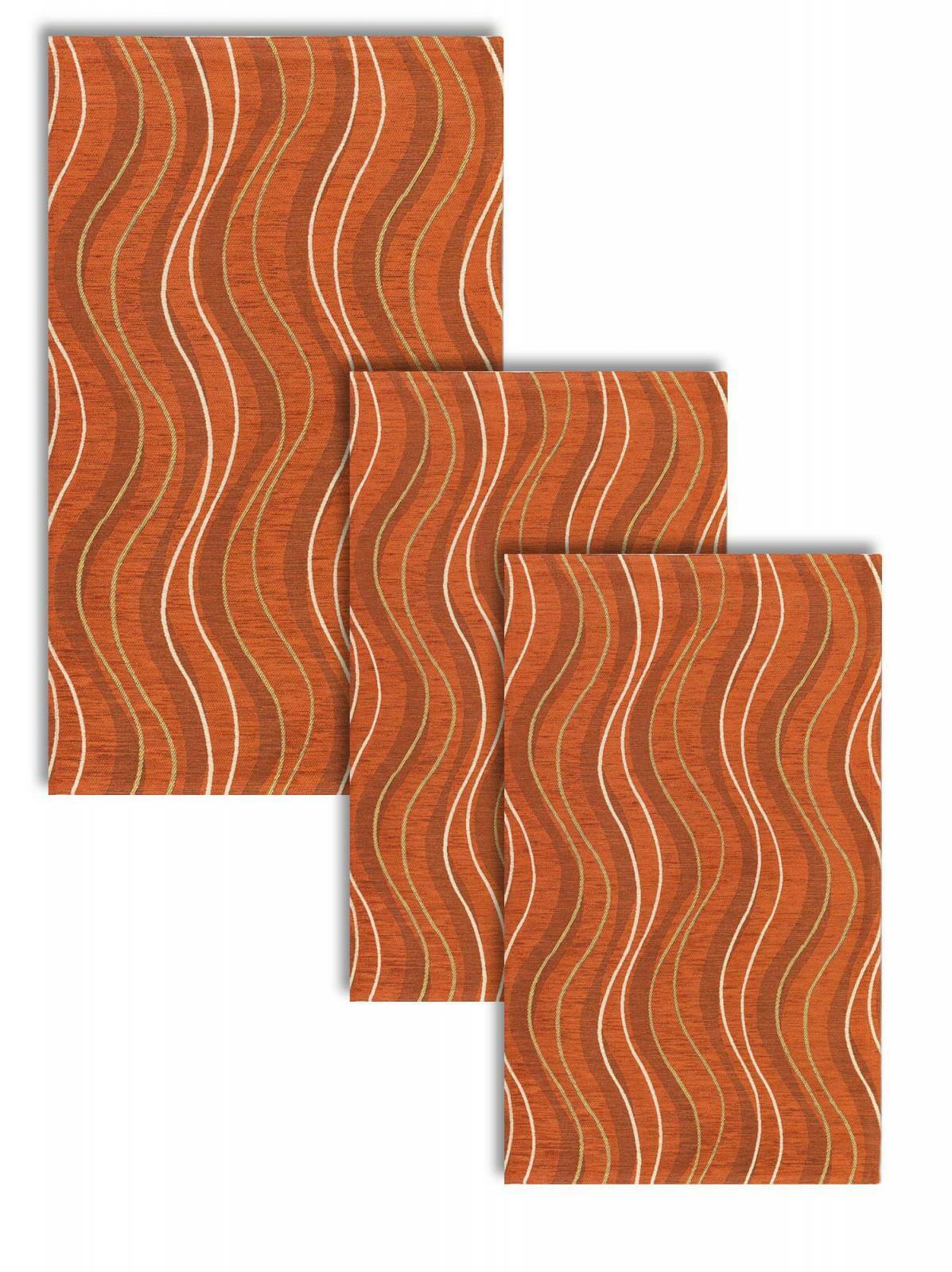 Tris camera da letto scendiletto 3 tappeti classico moderno altea arancio