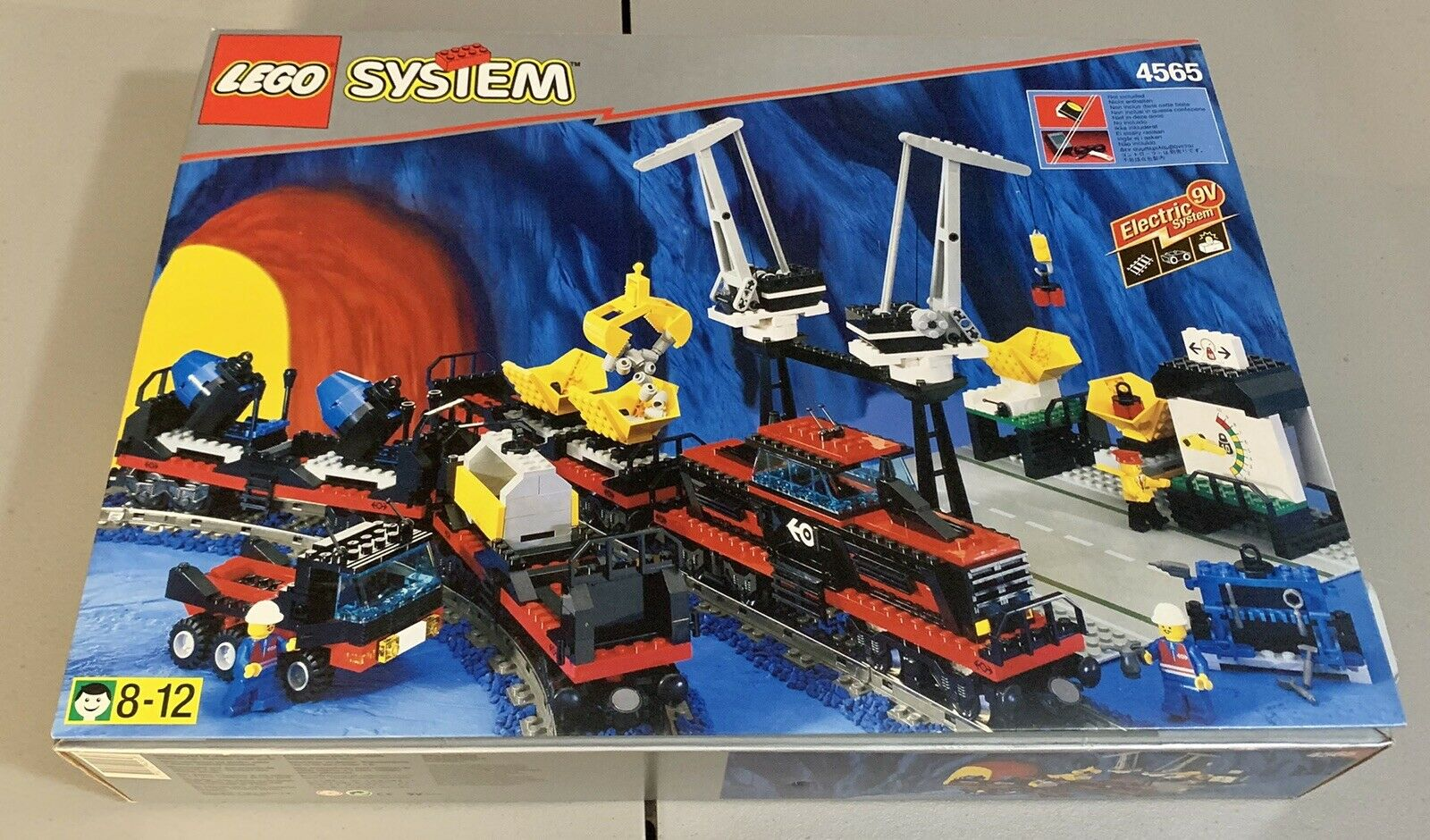 Custom Replacement Stickers for Lego 9v Train Freight and Crane Railway 4565