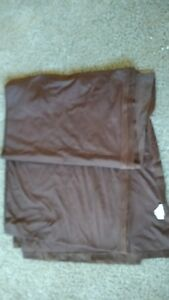 CHOCOLATE-Brown-Polyester-Scarf-Valance-Drape-Curtain-9-Ft-Brentwood-Originals