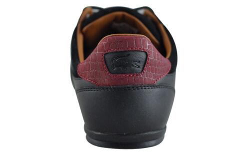 NEU SCHUHE  LACOSTE CHAYMON 417 1 CAM BLK//BLK Herrenschuhe Sneaker Leder