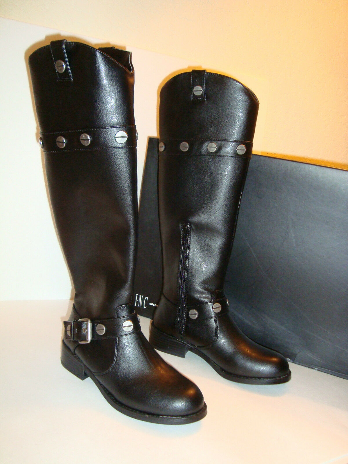 INC International International International Concepts Womens NWB Marty Black Boots shoes 6 MED NEW e858f7