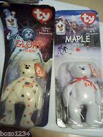2 Pc Lot Ronald Mcdonald House Ty Beanie Babies Maple And Glory The Bear Bnip