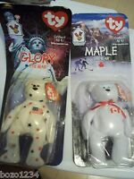 2 Pc Lot Ronald Mcdonald House Ty Beanie Babies Maple And Glory The Bear Bnip