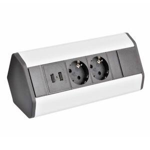 Detalles de Enchufe USB Mueble Cocina Interruptor Base de Superficie Zócalo  Montaje