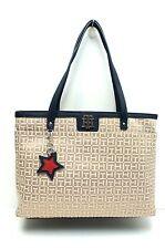 TOMMY HILFIGER Women's Handbag Shopper*Khaki/Navy Tote Shoulder Purse New $118