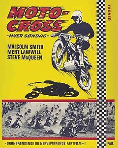 Vintage Antique  Steve McQueen Motocross Movie   POSTER
