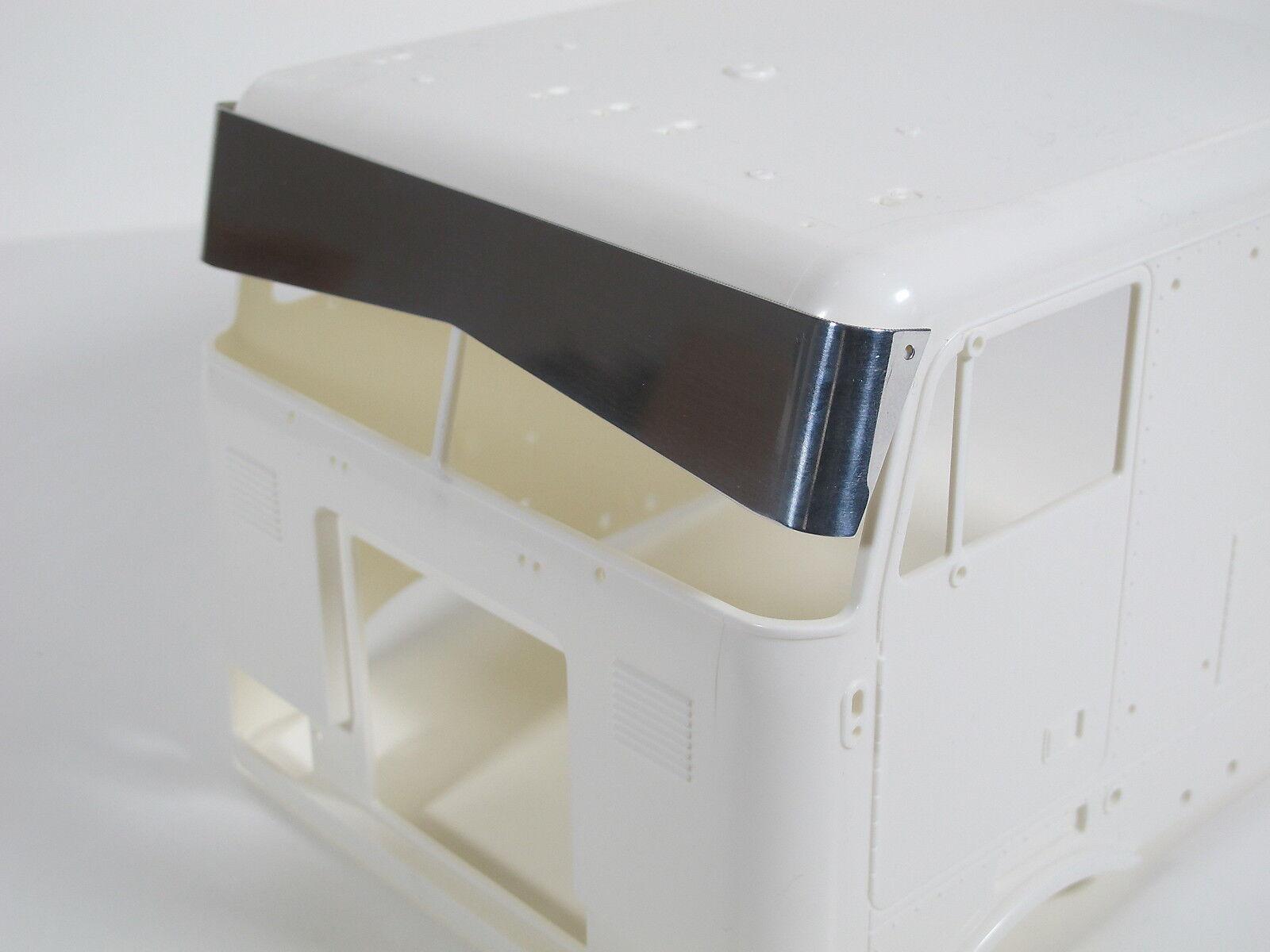 Tamiya RC 1 14 Globe Liner Semi front Drop Bowtie Sun Visor Deflector Plate