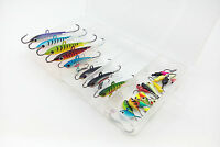 26pcs Lot Assorted Ice Fishing Lures Jig Lure Hard Baits Winter Lead Fish Tackle