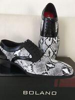Mens Dress Shoes Oxfords Twotone Black & White Color Tuxedo Wedding & Prom Shoes