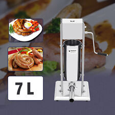 7l Manual Sausage Stuffer Commercial Stainless Steel Sausage Filler 2 Speed