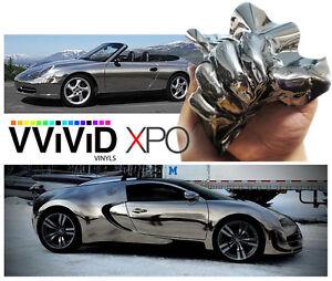 Vvivid Xpo 3mil Black Supercast Chrome Vinyl Car Wrapping Decal Ebay
