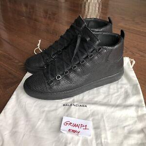 hacer clic abogado yo mismo  Men's Balenciaga Arena Black Python Leather High Size 43 US 10 Designer  Sneaker | eBay