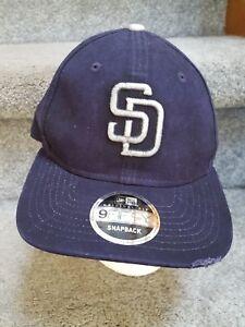 c53787235fb New Era 9Fifty San Diego Padres Snapback Hat Navy MLB Cap Hat ...