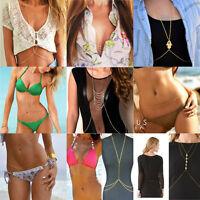 New Fashion Jewelry Bikini Harness Waist Belly Link Body Chain Necklace