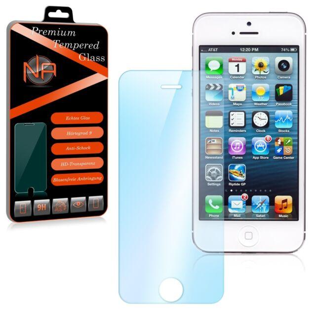 Apple iPhone 5 SE Schutzglas Glasfolie Panzerfolie Displayschutz Glas Folie 9H
