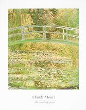 Claude Monet Seerosenteich Brücke Poster Kunstdruck Bild 40x50cm - Portofrei