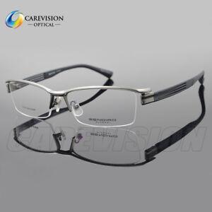 bc6ac2dc07 New Men s Half Rimless Eyeglasses Frames Metal Glasses Frames ...