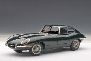 Autoart-73612-1-18-Jaguar-E-Type-Coupe-Series-I-3-8-1961-green-nuevo