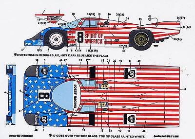 1/24 Porsche Spirit Of America Decal/tamiya Convenience Goods