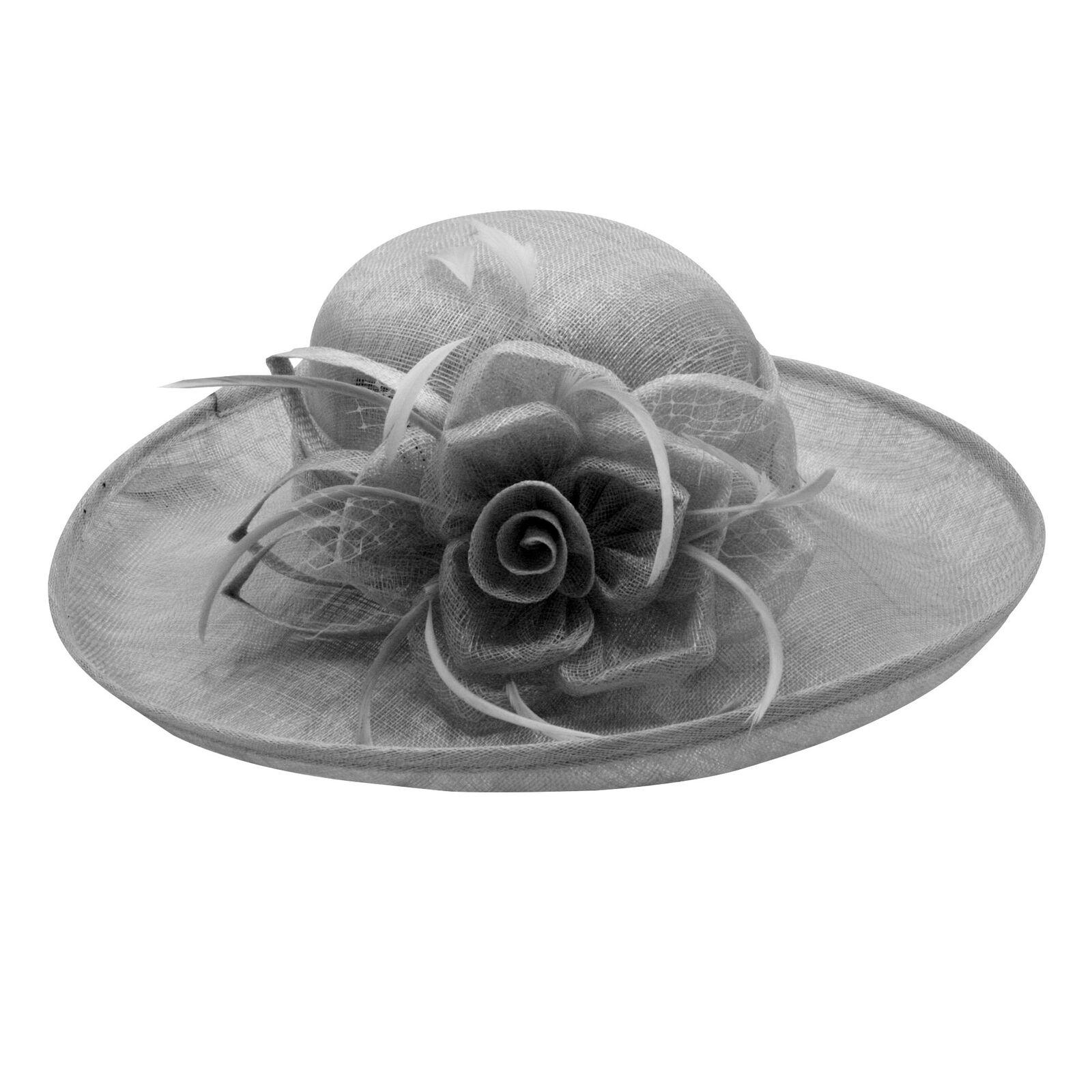 Hat picture hat wedding voilette fountain flower (brown, grey, pink, black) new