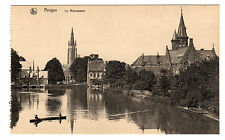 Le Minnewater - Bruges Photo Postcard c1910