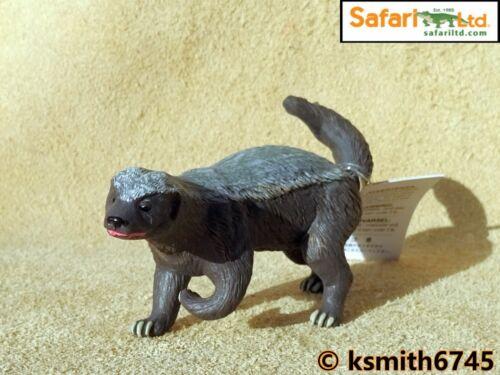 NEW Safari HONEY BADGER solid plastic toy wild zoo animal