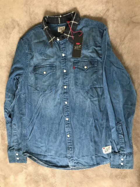 Levi's X Justin Timberlake Barstow Western Shirt Long Sleeve Denim Size L