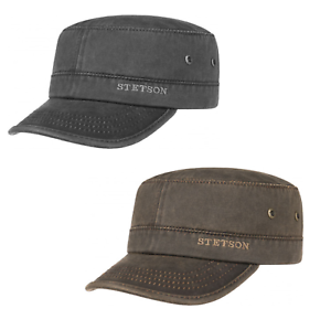 Image is loading Stetson-Datto-Engineers-Military-Cap-Black-or-Brown b12797e2eb