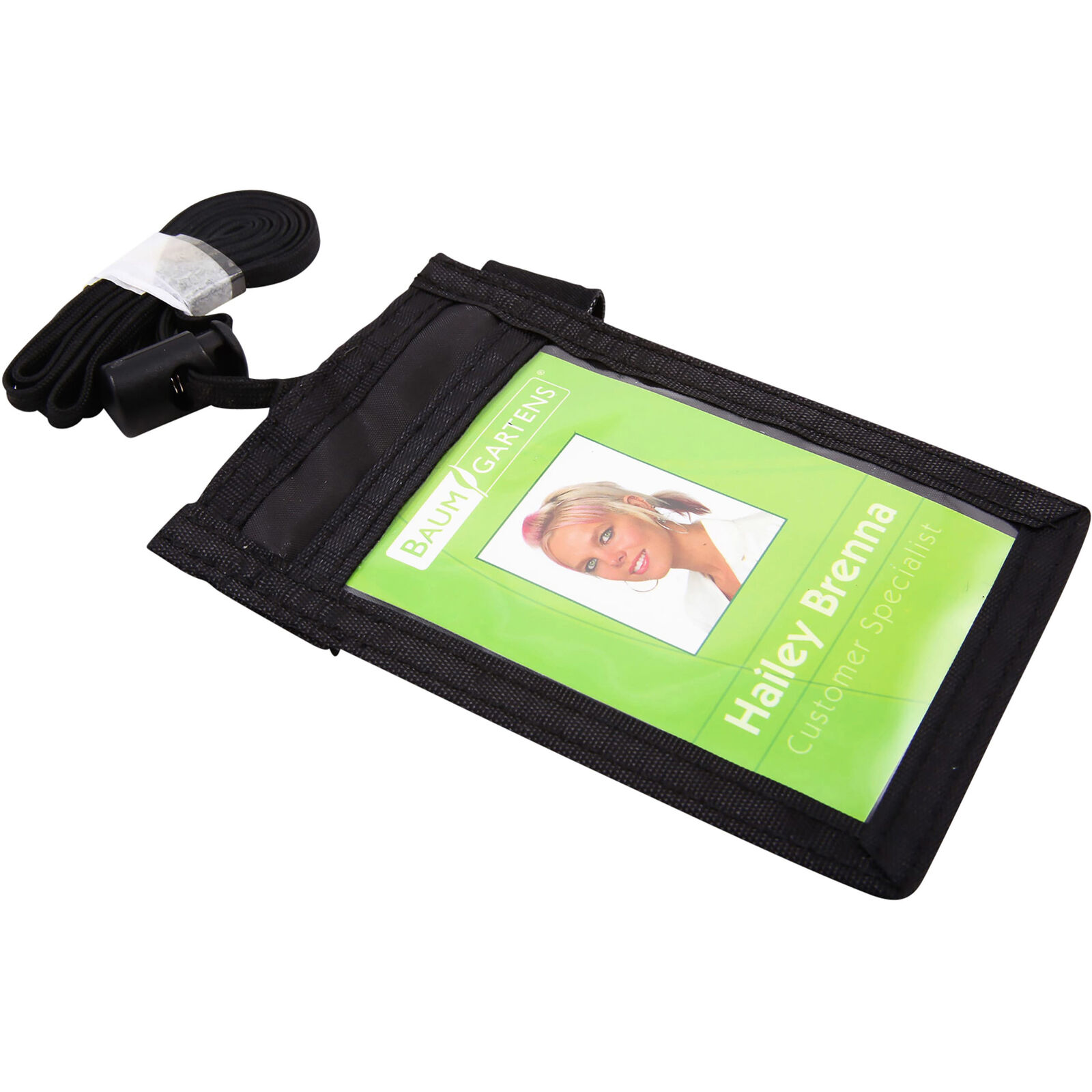 Baumgartens Carrying Case [pouch] For Business Card - Black - Nylon (BAU55120)