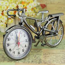 Vintage Shabby Uhren Standuhr Tischuhr Nostalgie Fahrrad Design Dekouhr Metall