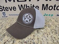 New Jeep Silver Star Logo Baseball Hat Cap Ballcap Brown/Grey One Size Fits Most
