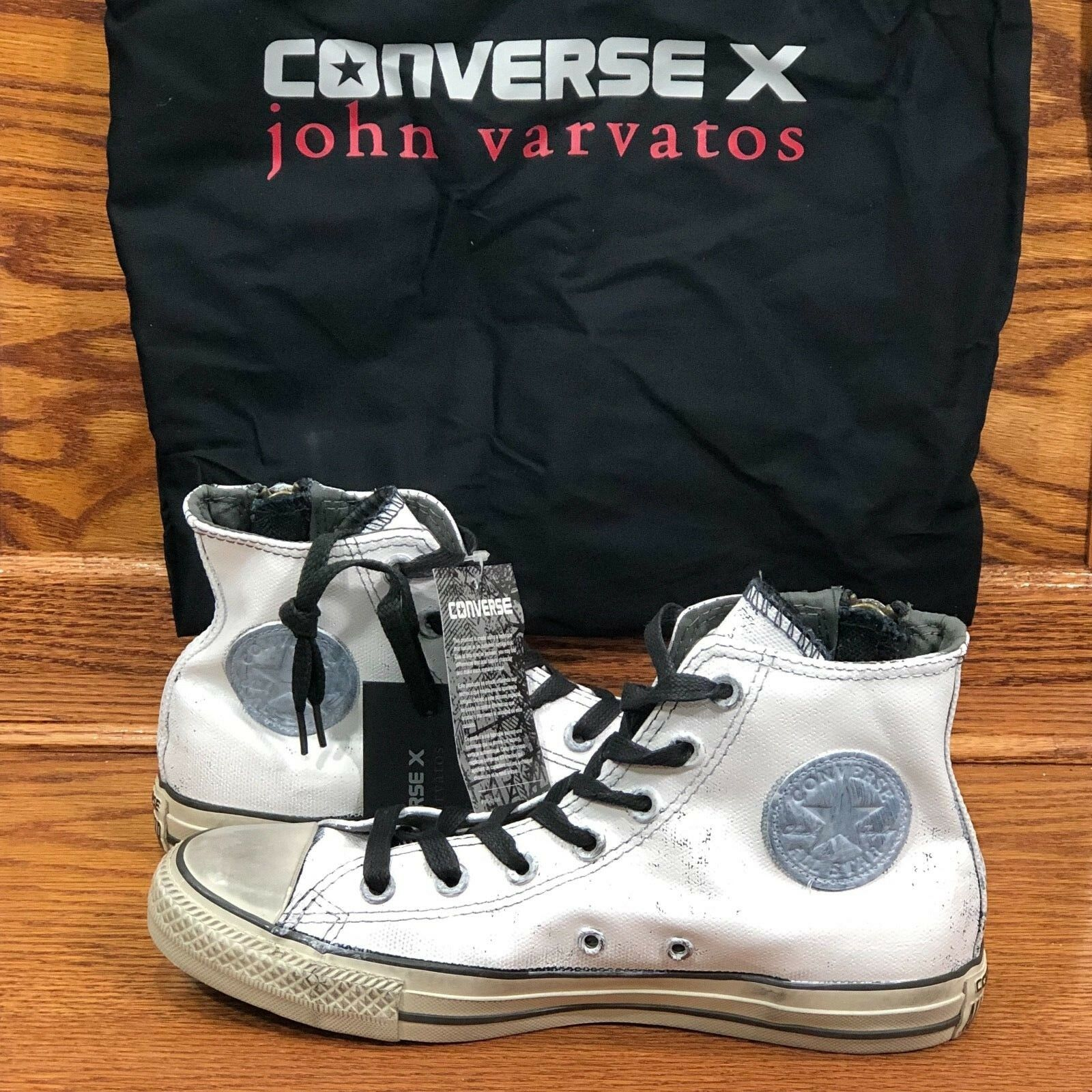 Converse CTAS John Varvatos Side Zip Black Beluga shoes Size Men 6 Women 8