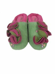 slippers-Ruby-Ed-ladies-designer-green-mule-cord-and-fur-new-sizes-UK-3-4