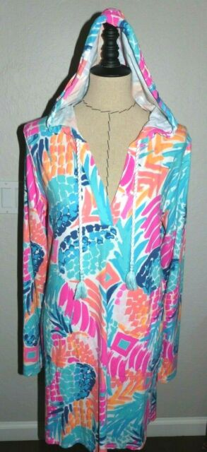76ab3c0d91 Lilly Pulitzer Dress UPF 50 L Rylie Pineapple Boombay Smashed Cover up  Sunguard