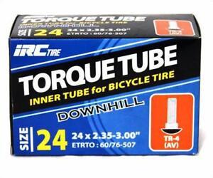 Irc-Torque-Downhill-Bicycle-Tube-Schrader-Valve-24-034-X-2-35-3-0-Bike