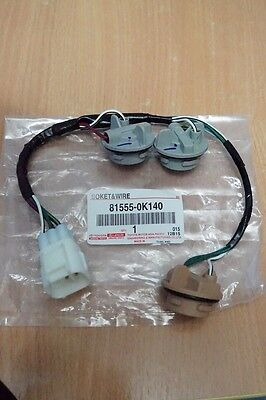 1PC GENUINE TOYOTA HILUX SR5 MK6 2005-2014 SOCKET & WIRE FOR TAIL LIGHT SAFTY