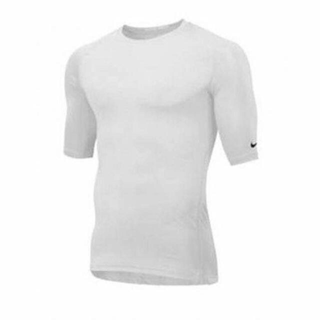 2d91cb90bc98c Nike Pro Men's Football Compression White DRI-FIT T-Shirt 719903-100 NWT