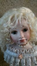 """Mohair Doll Wig, Kate 11-12"""" . Big Head. Discontinued  Great Color, Honey Blonde"""