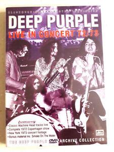 DEEP-PURPLE-Live-in-concert-72-73-dvd-Tres-bon-etat