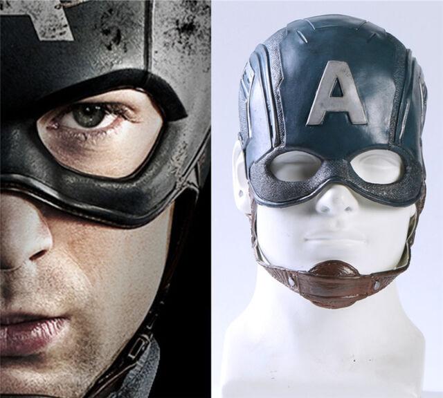 1:1 Captain America 3 Civil War Mask Mens Cosplay Props PVC Motorcycle Helmet