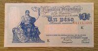 Rare Argentina Banknote. One Peso.