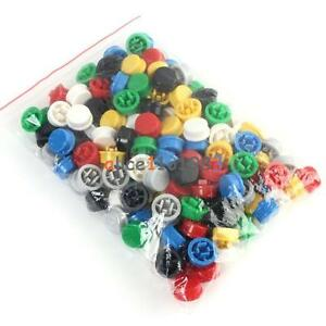 140PCS-Round-Tactile-Button-Cap-Kits-9-58-5-1mm-for-12-12-7-3mm-Tact-Switch