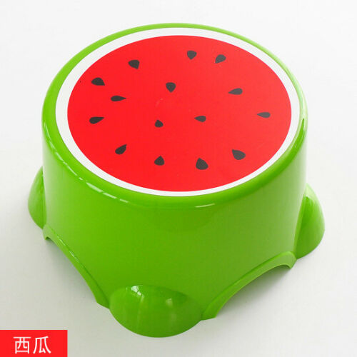 Fruits Small Children Foot Stool Round Baby Step Plastic Shower Room Small Chair
