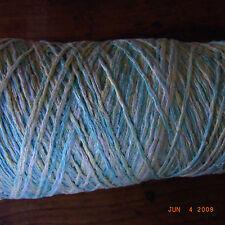BOBINE COTON TRICOTER/CROCHETER VERT CHINE 0,21 KG (avec cône) / knotting yarn