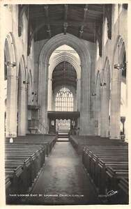 England-Ludlow-St-Laurence-Church-Nave-looking-East-real-photograph