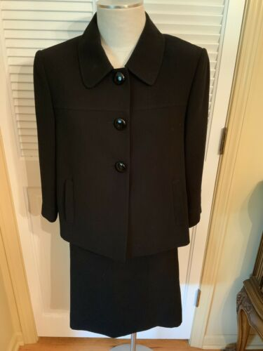Tahari Skirt Suit Sz 12 Belted Dressy Cropped Jack