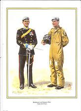 BANDMASTER & SERGEANT PILOT. ARMY AIR CORPS MILITARY PRINT