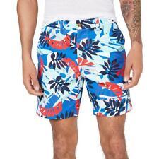 "Tommy Hilfiger Mens Marcus 7"" High Rise Printed Khaki, Chino Shorts BHFO 0039"