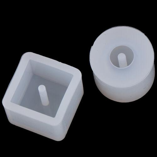 6Pcs round square silicone mold epoxy casting resin jewelry bracelet DIY tool